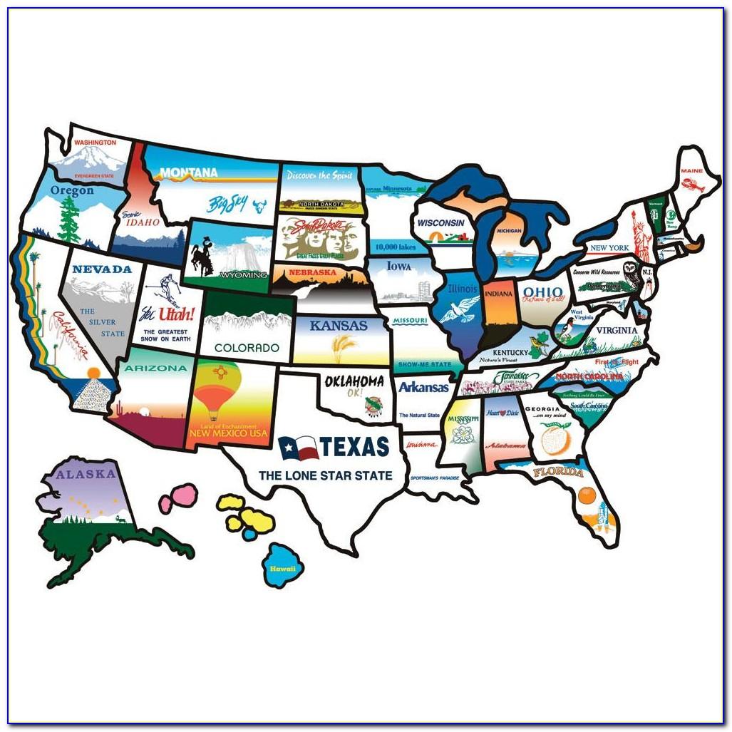 Rv & Travel Usa State Sticker Map