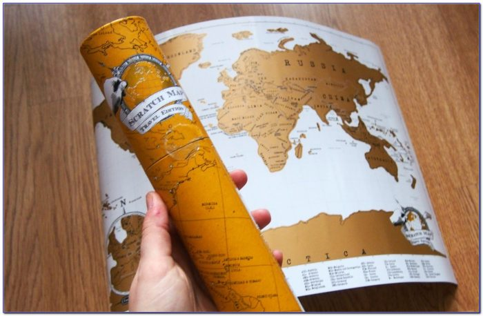 Scratch Off Map Of The World Amazon