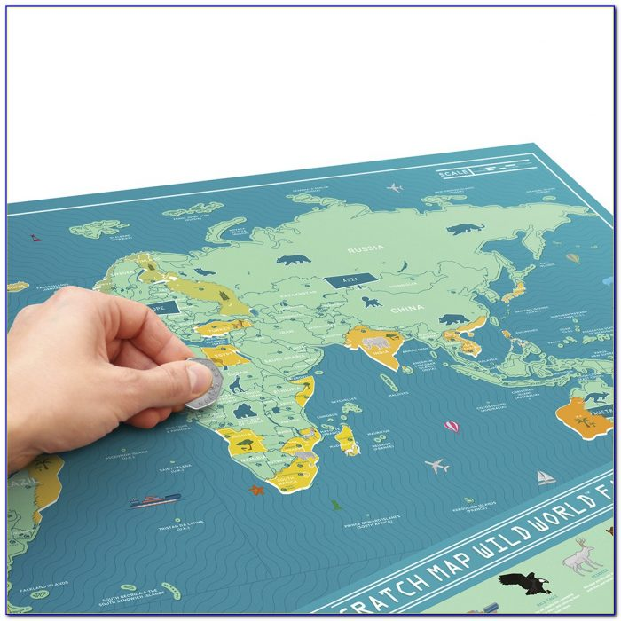 Scratch Off Map World Deluxe