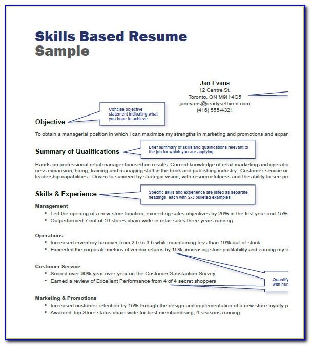 Skills Based Resume Template Free