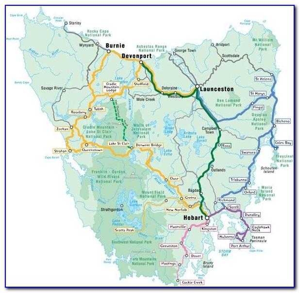 Tasmania Touring Map