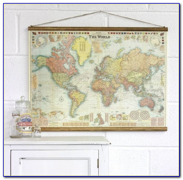 Wall Map Hanging System