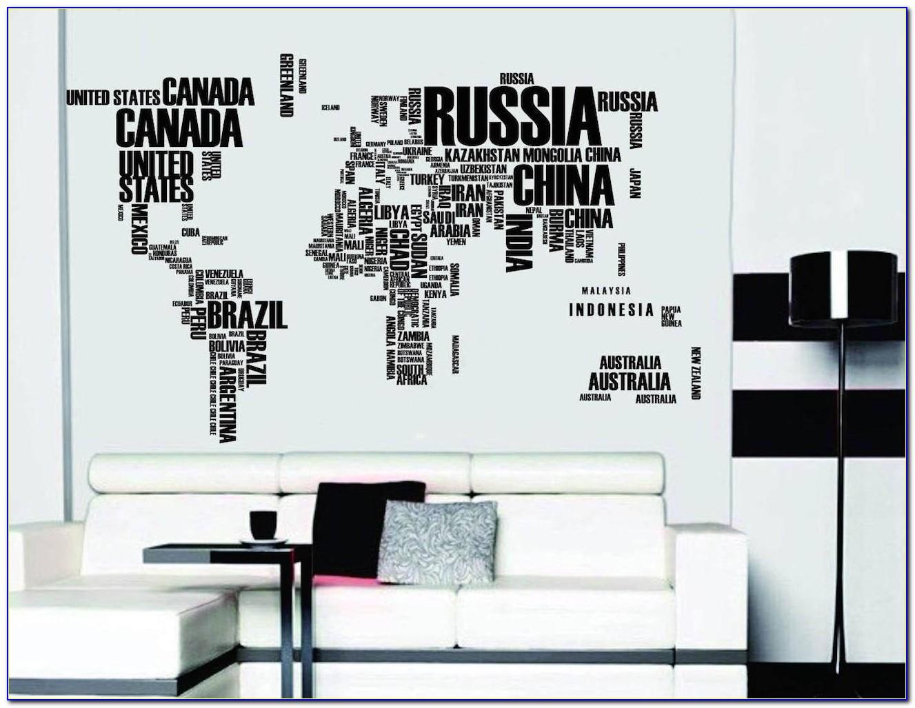 Wall Sticker Europe Map