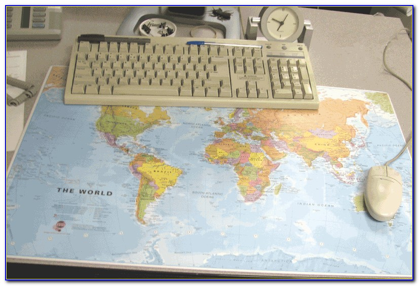 World Map Desk Mats