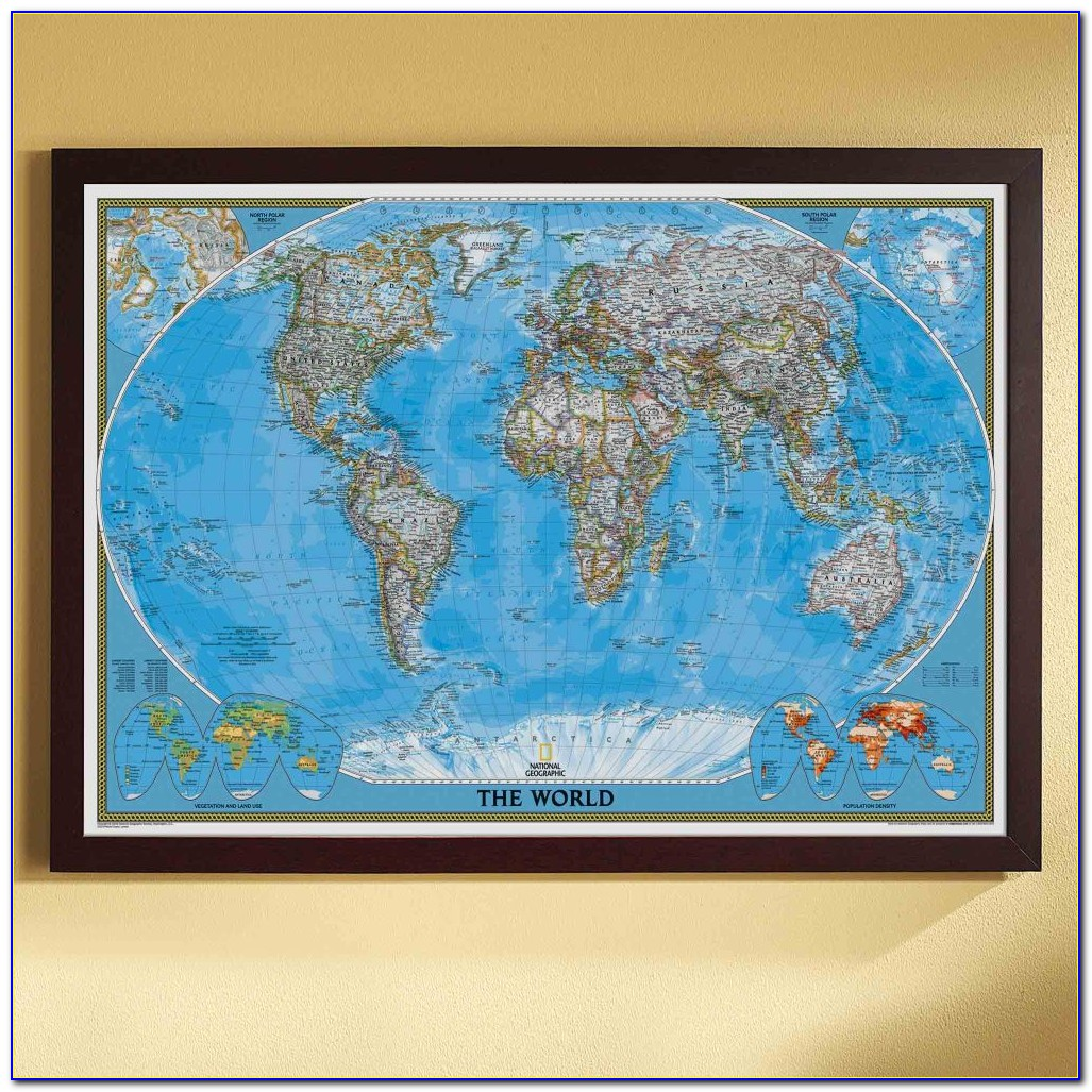 World Map Framed Pictures