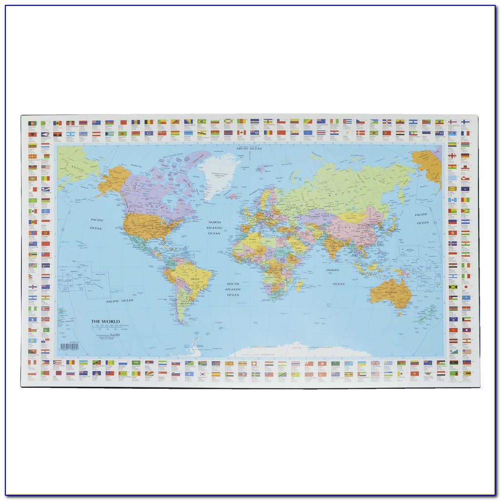 World Map Full Desk Mouse Pad