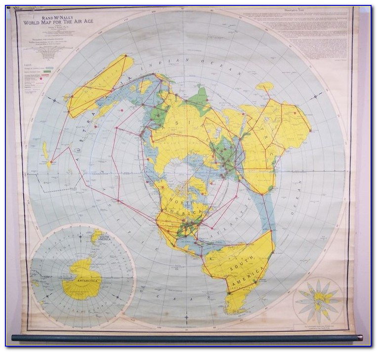 World Map Rand Mcnally