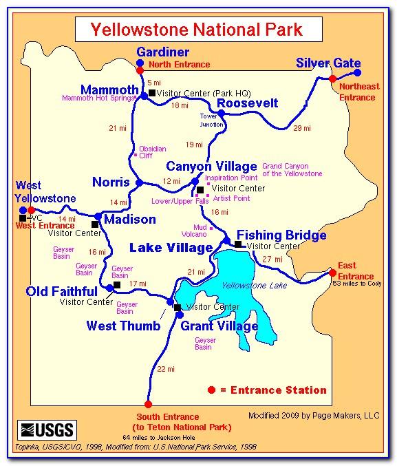 Yellowstone Cabins Map