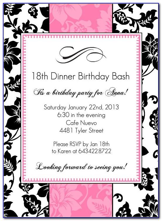 18th Birthday Invitation Template 109