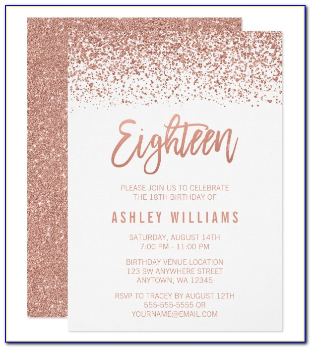 18th Birthday Invitation Maker Free