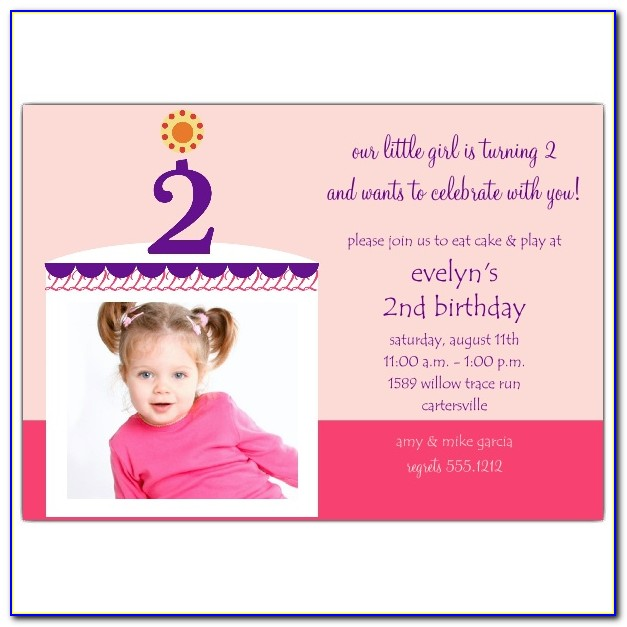 2nd Birthday Invitation Template For Boy