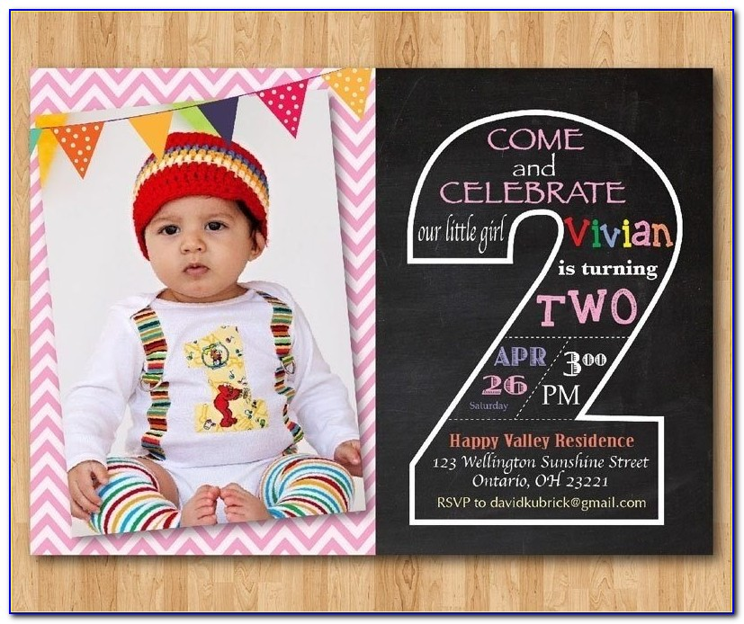 2nd Birthday Invitation Card Template | Template With Regard To 2nd Birthday Invitation Card Template