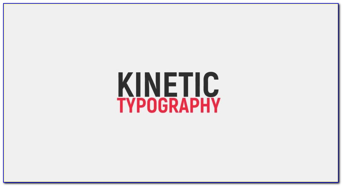 After Effects Typography Templates Free