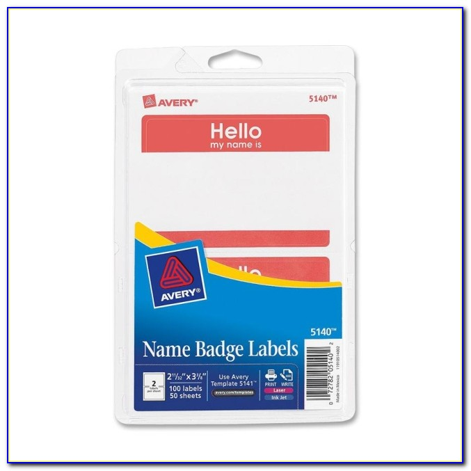 Avery Fabric Name Badge Labels Template