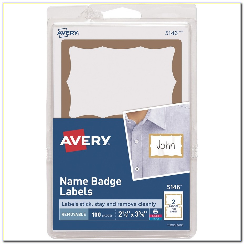 Avery Name Badge Labels 5144 Template