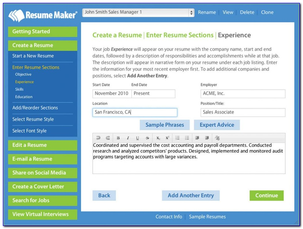 Best Free Resume Maker Online