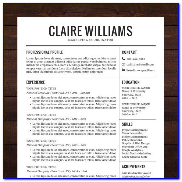 Best Resume Templates Free Download 2019