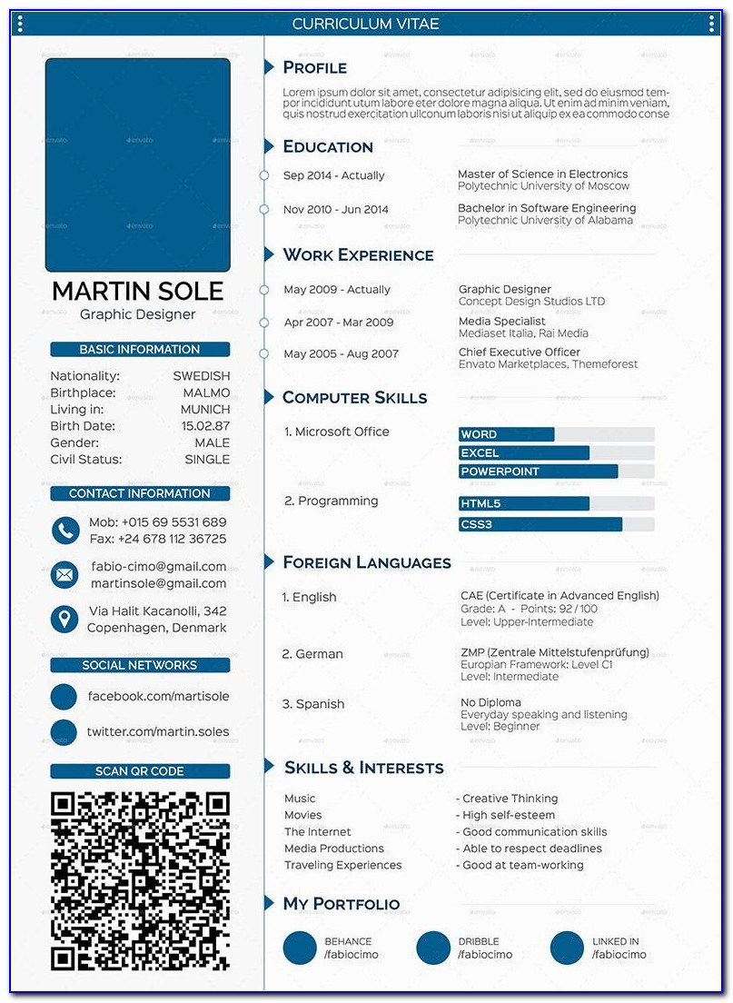Best Resume Templates Free Download Word