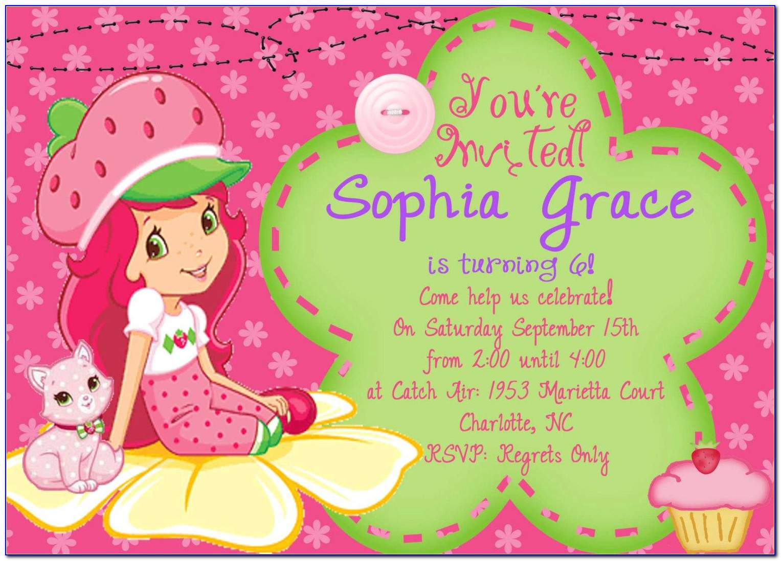 Birthday Party Invitation Card Design Template
