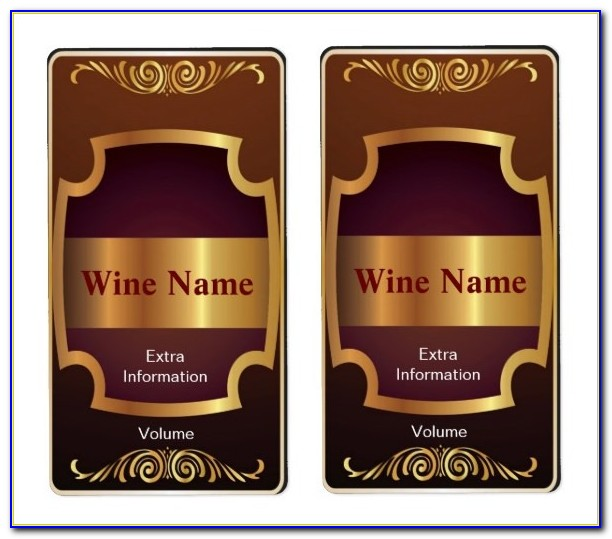 Bridesmaid Wine Bottle Label Template Free