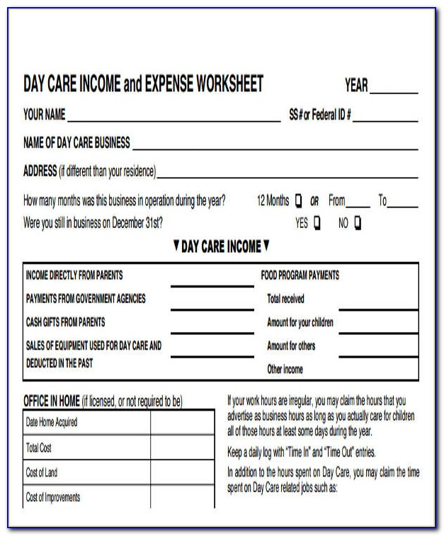 Business Income And Expense Report Template