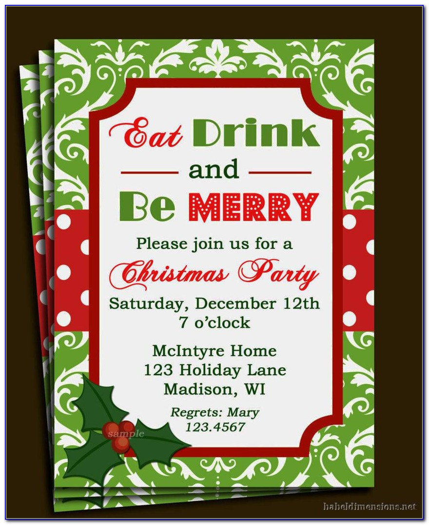 Christmas Party Invitation Template Word