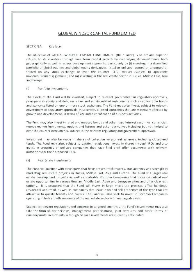 Commercial Real Estate Offering Memorandum Template Free