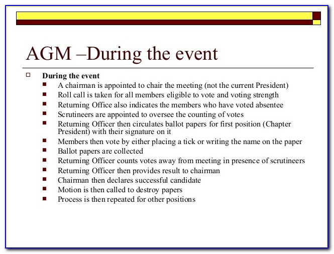 Condo Agm President's Report Template
