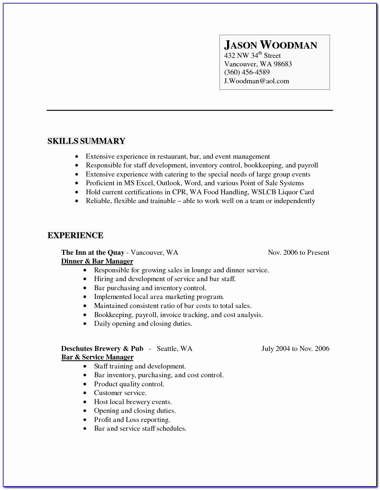 For Free Fill In Resumes Printable