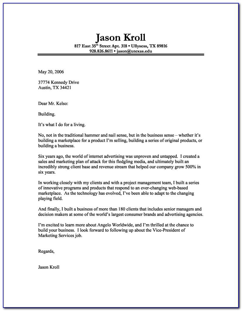 Cover Letter Samples For Resume Teacher