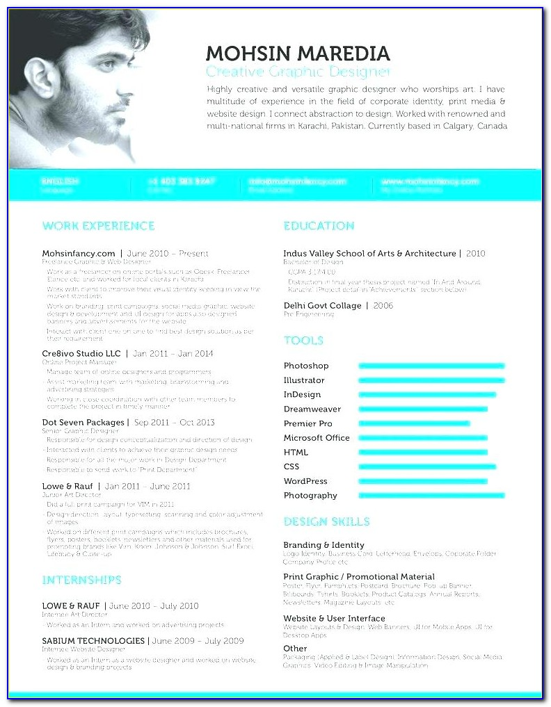 Curriculum Vitae Website Template Free