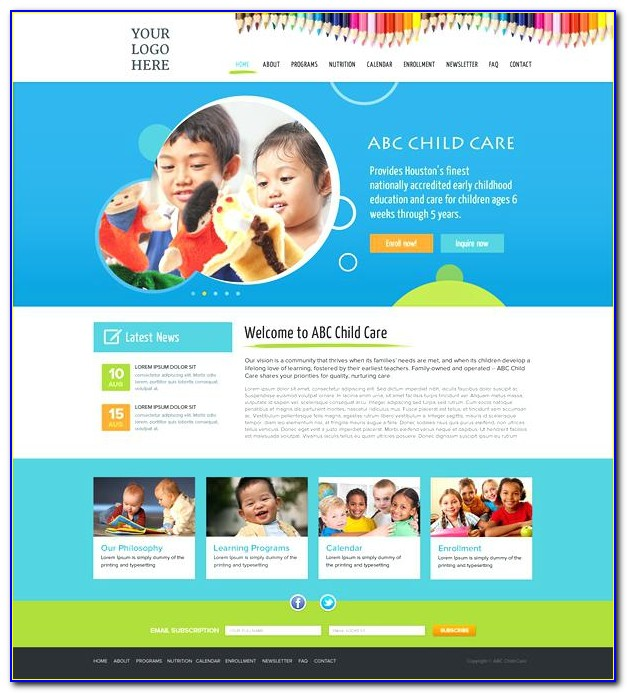 Daycare Website Templates Free Download
