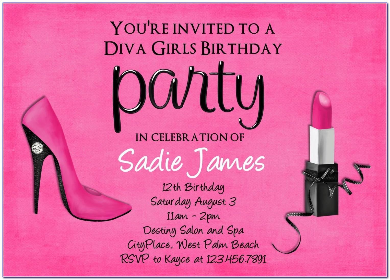 Editable 18 Birthday Invitations Templates Free
