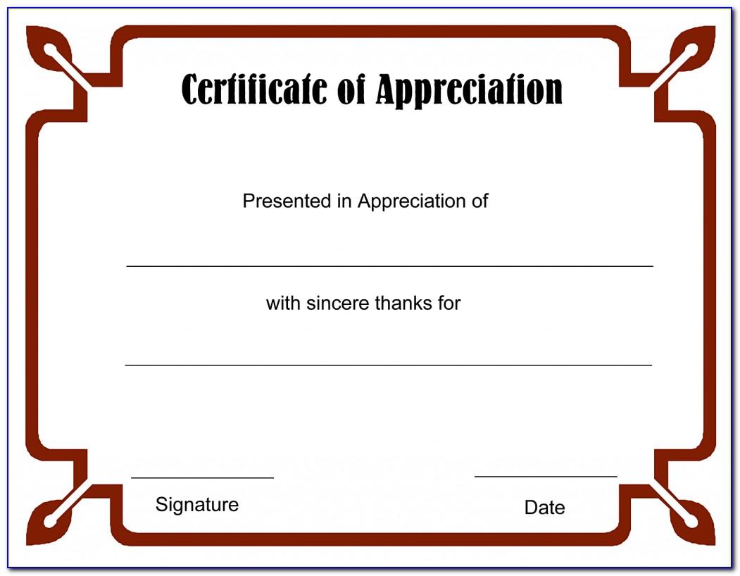 Editable Certificate Of Appreciation Templates
