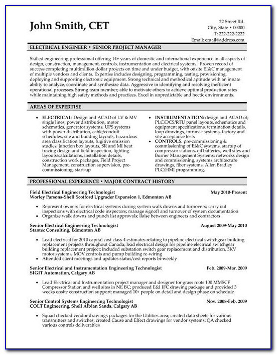 10 Best Best Electrical Engineer Resume Templates & Samples Images Throughout Engineer Resume Template