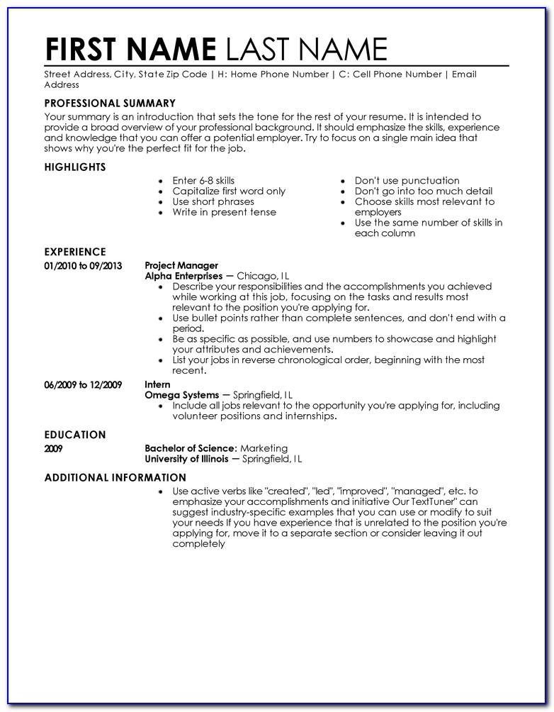 Entry Level Resume Builder Free