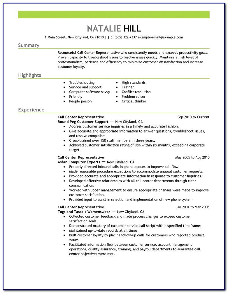 Examples Of Curriculum Vitae Format