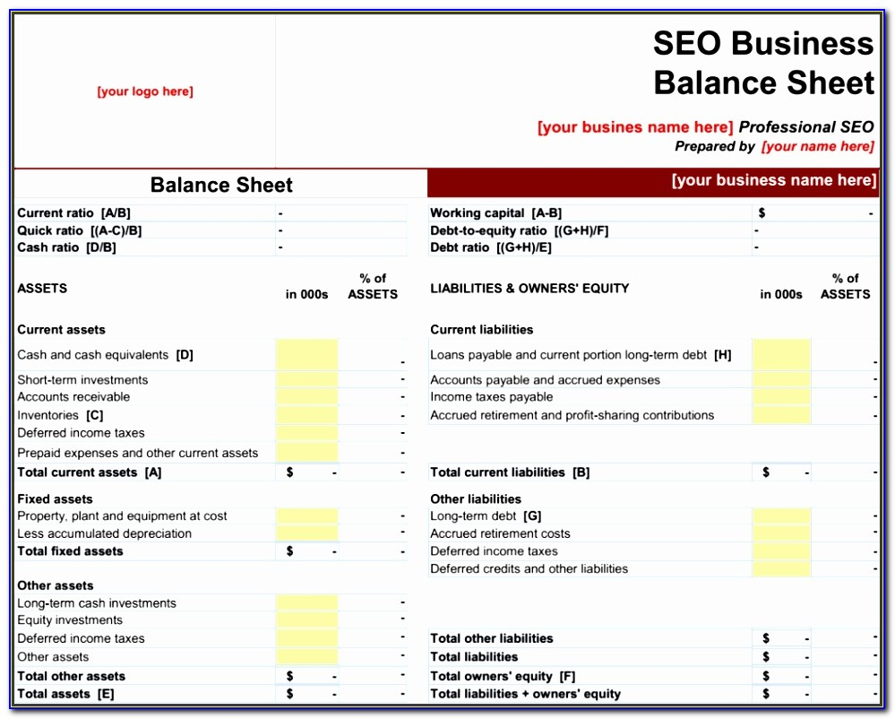Balance Sheet Format In Excel Yudzy Inspirational Balance Sheet Template For Small Business Excel