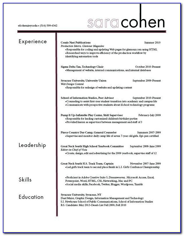 Filling Out A Federal Resume