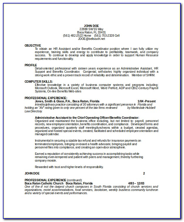 Filling Out Skills Section Resume