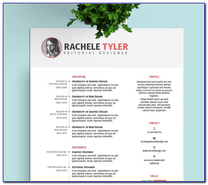 Free Adobe Indesign Resume Template