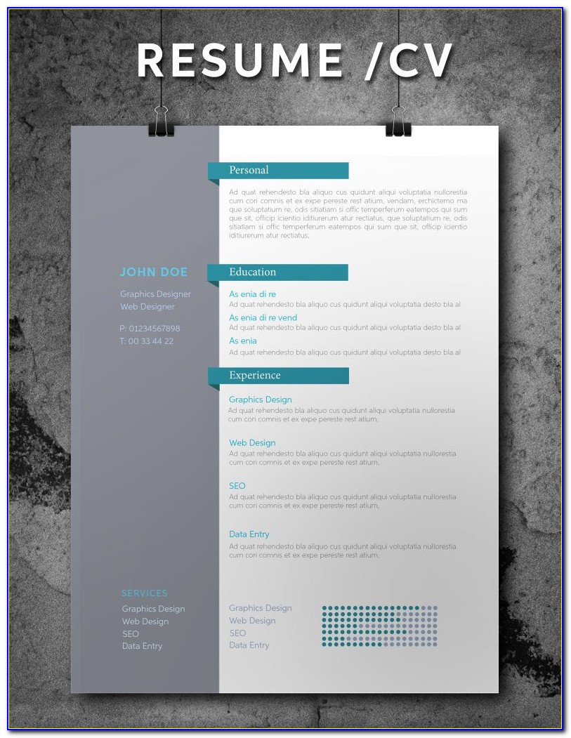 Free Adobe Indesign Resume Templates