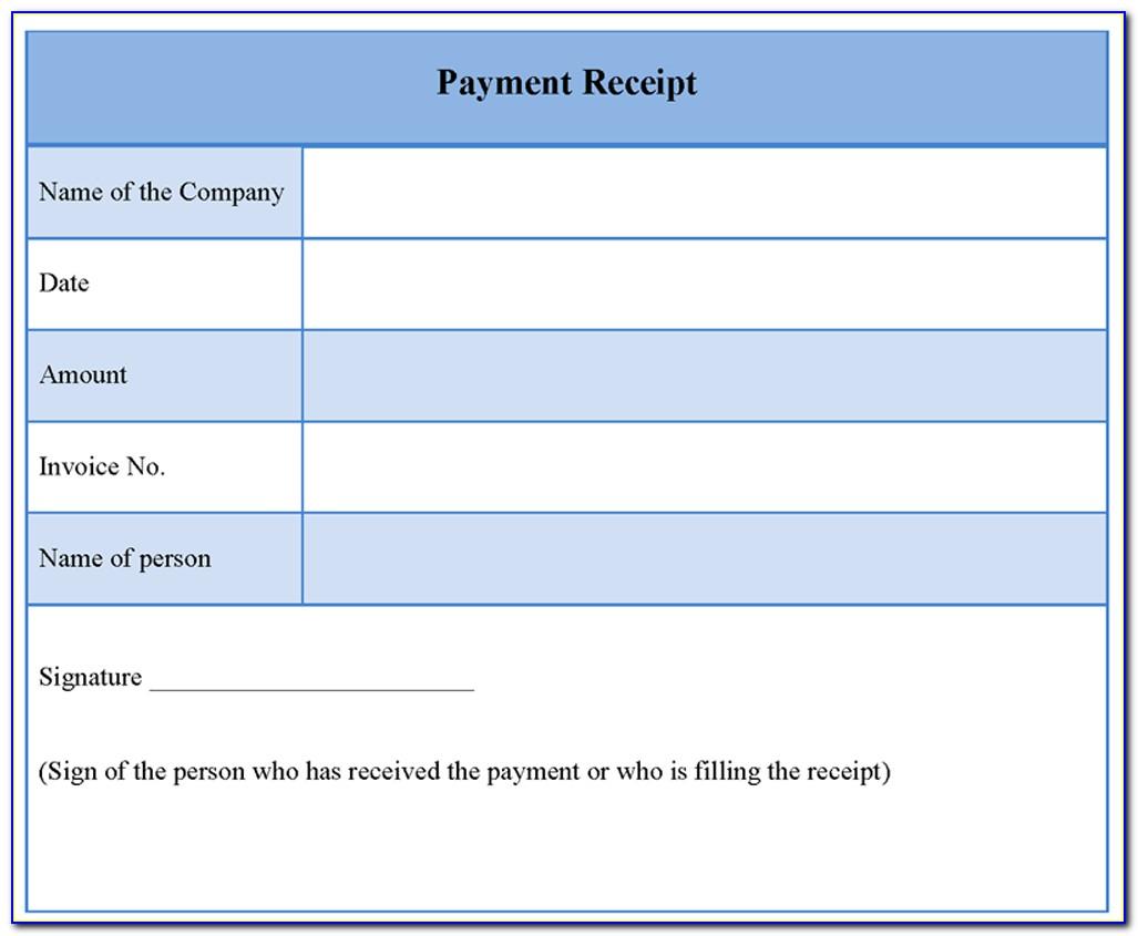 Free Cash Receipt Template Word