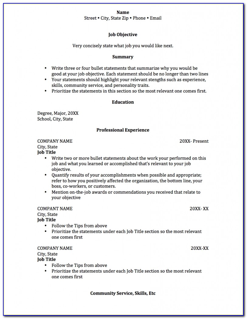 Free College Resume Builder