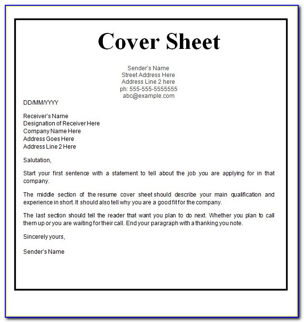 Free Cover Letter For Resume Examples