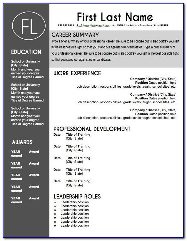 Editable Resume Template 25 Best Free Downloadable Resume Intended For Editable Resume Template