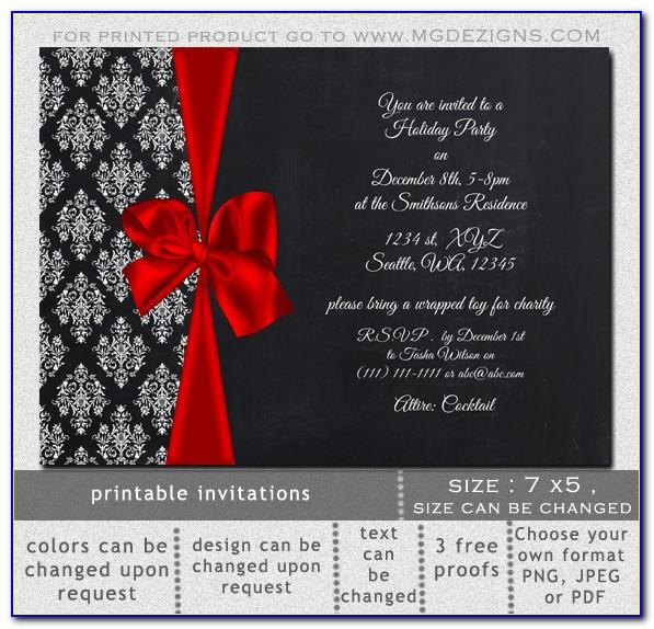 Free Elegant Holiday Invitation Templates