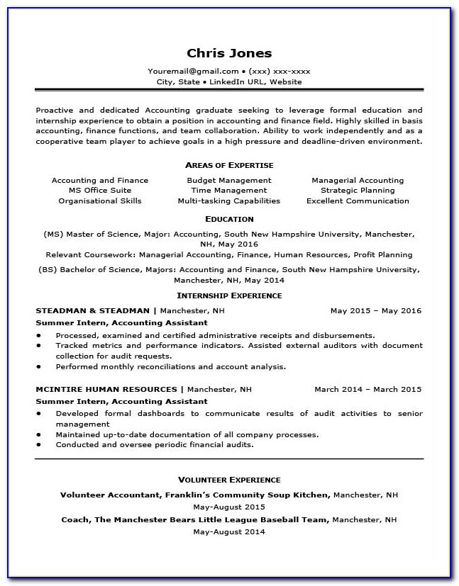 Free Entry Level Resume Templates Download