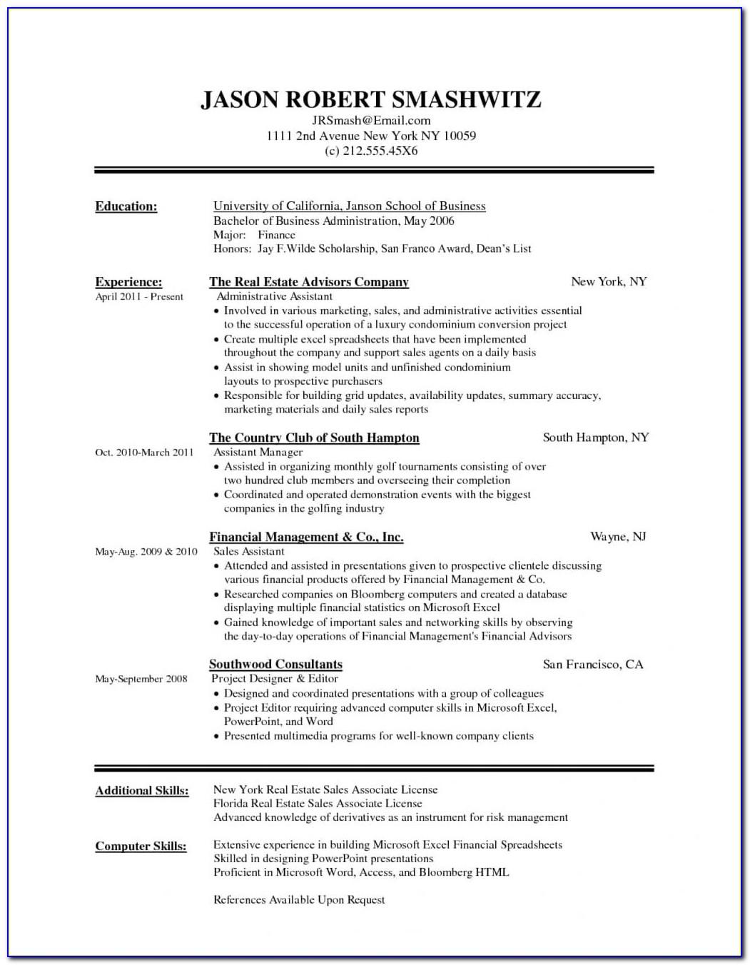 Free Functional Resume Template - Resume : Resume Examples ...