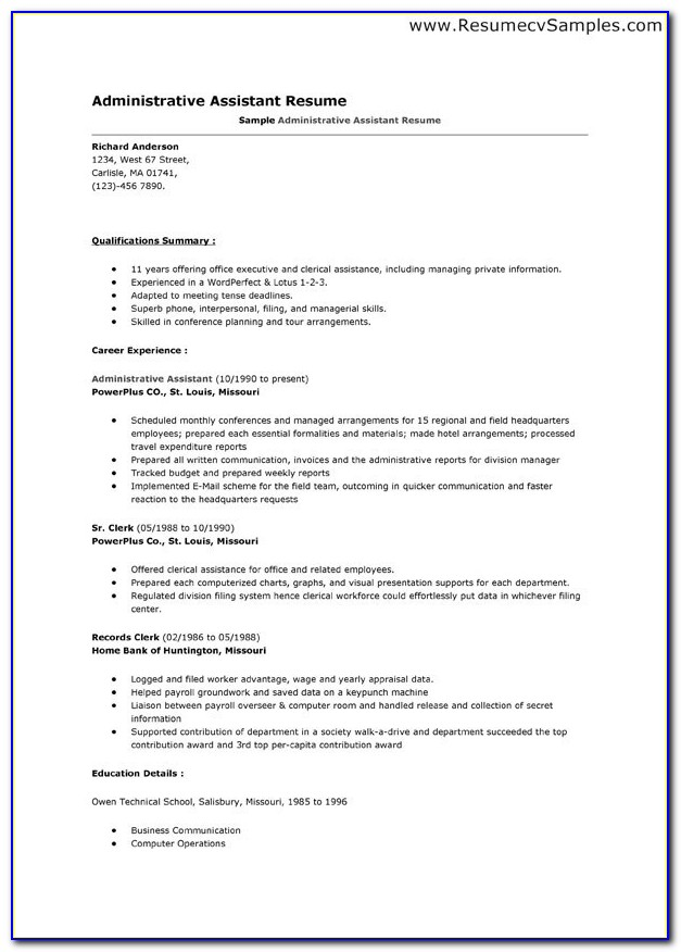 Free Google Doc Resume Template